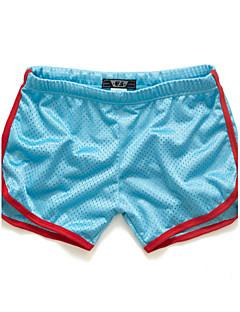 billige Herrebukser og -shorts-Herre Aktiv Tynn / Shorts Bukser Ensfarget / Fargeblokk / Sport