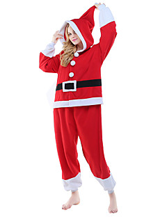 Kigurumi Pajamas Santa Claus Costume Red Polar Fleece Kigurumi Leotard / Onesie Cosplay Festival / Holiday Animal Sleepwear Halloween