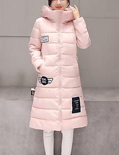 baratos Oferta-Mulheres Letra Diário Moda de Rua Longo Duvet, Com Capuz Manga Longa Algodão Inverno