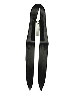 Cosplay Parykker Final Fantasy Vincent Valentine Svart Ekstra Lang / Rett Anime Cosplay Parykker 120 CM Varmeresistent FiberMann /
