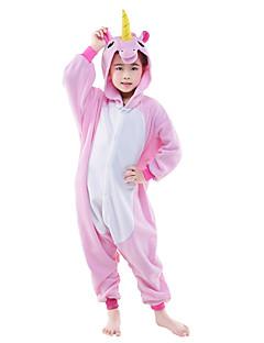 Kigurumi Pyžama Létající kůň Unicorn Leotard/Kostýmový overal Festival/Svátek Animal Sleepwear Halloween Růžová Modrá Jednobarevnépolar