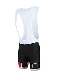 billige Sykkelklær-ILPALADINO Herre Shorts med seler til sykning Sykkel Sykkelshorts Med Seler / Bunner 3D Pute, Fort Tørring, Vindtett Mote Lycra Rød