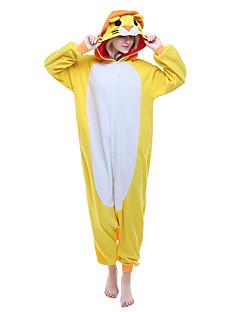 billige Kigurumi-Voksne Kigurumi-pysjamas Løve Onesie-pysjamas Polar Fleece Gul Cosplay Til Damer og Herrer Pysjamas med dyremotiv Tegnefilm Festival / høytid kostymer