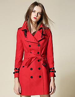 billige Pels og lær-Polyester Moderne Stil Trenchcoat Dame
