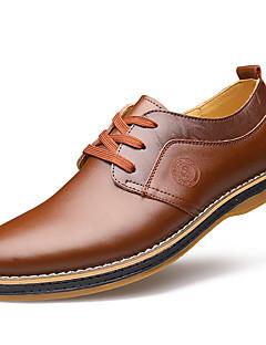 Χαμηλού Κόστους -Ανδρικά Τα επίσημα παπούτσια Δερμάτινο Άνοιξη Καθημερινό / Ανατομικό Oxfords Περπάτημα Μαύρο / Καφέ / Γάμου / Δερμάτινα παπούτσια