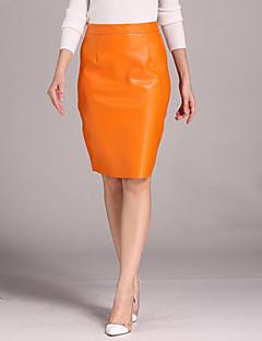 Ulični šik Ženski Suknje-Do koljena,Mikroelastično PU