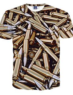 お買い得  メンズTシャツ&タンクトップ-男性用 スポーツ 週末 - プリント Tシャツ スリム