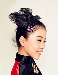 パフォーマンス ヘッドピース 女性用 子供用 演出 羽毛 羽毛/ファー 1個 ヘッドピース