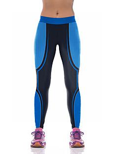 billiga Träning-, jogging- och yogakläder-Dam Lappverk Yoga byxor - Rosenröd, Blå sporter Byxa Pilates Sportkläder Andningsfunktion, Kompression Elastisk