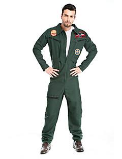 billige Voksenkostymer-Soldat/Kriger Politi karriere Kostymer Cosplay Kostumer Party-kostyme Herre Halloween Oktoberfest Festival / høytid Halloween-kostymer