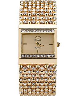 Mulheres Relógio de Moda Relógio de Pulso Bracele Relógio Relógio Casual Quartzo Strass imitação de diamante Aço Inoxidável Banda
