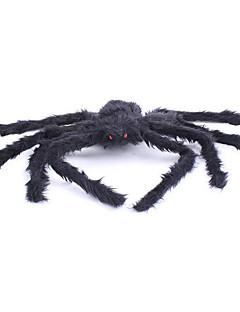 billige Halloweenkostymer-Edderkopper Halloween Utstyr Herre Dame Halloween Festival / høytid Halloween-kostymer Drakter Svart Ensfarget