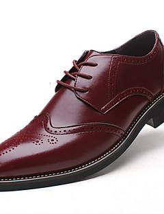 Erkek Ayakkabı Tüylü Bahar Yaz Sonbahar Kış Bullock ayakkabı Biçimsel Ayakkabı Rahat Oxford Modeli Bağcıklı Uyumluluk Düğün Günlük Parti