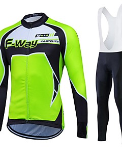 fastcute Wielrenshirt Dames Heren Unisex Lange Mouw FietsenBroeken/Regenbroek/Overbroek Trainingspak Fleece jacks / Fleecetruien Shirt