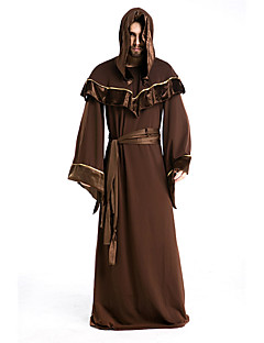 cheap -Wizard Cosplay Costume Party Costume Men's Halloween Festival / Holiday Halloween Costumes Brown Print