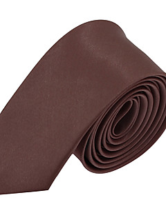 Men's Polyester Neck Tie,Vintage Party Work Casual Solid All Seasons Purple Brown Green