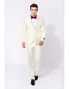 cheap Tuxedos-Party/Evening Causal Tuxedos Slim Peak Single Breasted White