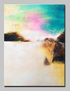 baratos Paisagens Abstratas-Pintura a Óleo Pintados à mão - Abstrato / Paisagens Abstratas Modern / Estilo Europeu Com Moldura