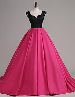 Aライン ノッチ コートトレーン サテン ボタン 〜と フォーマルイブニング ドレス 〜によって TS Couture®