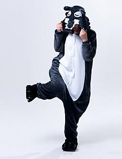 着ぐるみ パジャマ オオカミ レオタード/着ぐるみ イベント/ホリデー 動物パジャマ ハロウィーン インクブルー レオパード フリース きぐるみ のために 男女兼用 ハロウィーン クリスマス カーニバル 新年