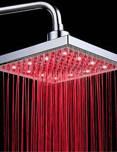 cheap LED Shower Heads-Top Spray Shower Head With Tricolor Luminous Color Temperature /8 Inch Water Booster Top Spray (ABS Plating)