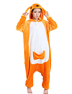 billige Kigurumi-Kigurumi Pyjamas Kenguru Trikot/Heldraktskostymer Festival/høytid Pysjamas med dyremotiv Halloween Oransje Polar Fleece Kigurumi Til