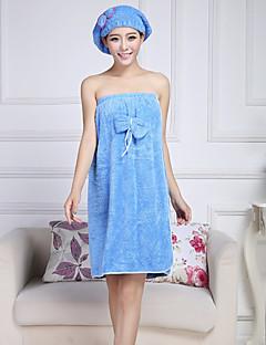 Frisk stil Badehåndkle,Solid Overlegen kvalitet 100% Korall Fleece Håndkle