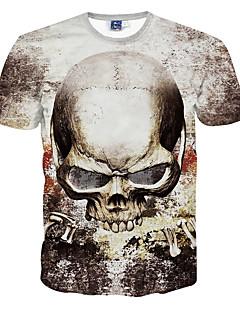 Herren T-shirt-Druck Freizeit / Formal / Sport Polyester Kurz-Grau