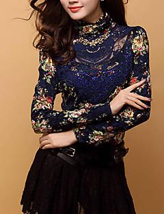 cheap Women's Tops-Women's Rayon Polyester T-shirt - Print Turtleneck