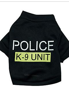 billiga Hundkläder-Hund Tröja Hundkläder Polis / Militär Cotton Kostym För husdjur Herr Dam Födelsedag Cosplay Mode