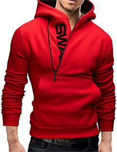 Male Plus Size Sweatshirt Pullover Side Zipper With A Hood Male Spring And Autumn Outerwear Men's Clothing