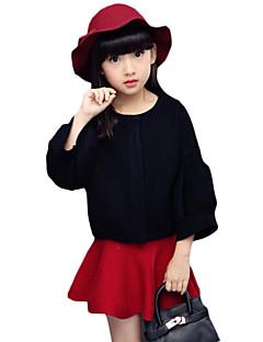 女の子の カジュアル/普段着 ゼブラプリント ウール,セーター&カーデガン 春 / 秋 ブラック / レッド / ホワイト