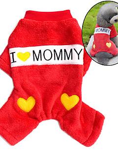 billiga Hundkläder-Hund Jumpsuits Pyjamas Hundkläder Bokstav & Nummer Röd Blå Manchester Kostym För husdjur Herr Dam Gulligt Ledigt / vardag