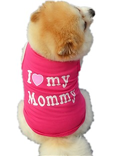billiga Hundkläder-Katt Hund T-shirt Väst Hundkläder Bokstav & Nummer Svart Ros Cotton Kostym För husdjur Herr Dam Gulligt Ledigt/vardag Semester Födelsedag