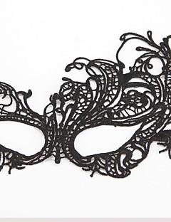 コスプレ マスク 男女兼用 イベント/ホリデー ハロウィーンコスチューム ブラック ハロウィーン ゼブラプリント レース