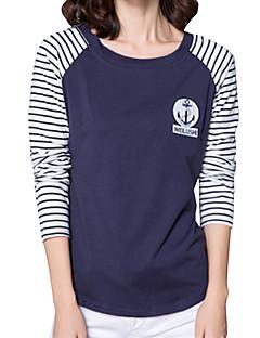 billige T-shirt-Dame - Stribet T-shirt Bomuld