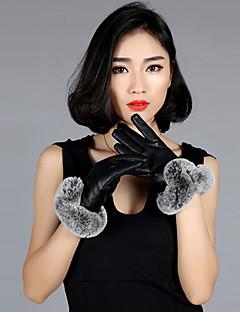 naisten pu kanin turkista ranteen pituus sormenpäät lisätä villa järkyttää söpö / puolue / vapaa-ajan talven muoti lämpimät käsineet