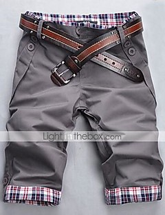 billige Herremote og klær-Herre Tynn Rett / Shorts Bukser Ruter
