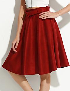 Jednostavno Ženski Suknje-Do koljena,Mikroelastično Najlon