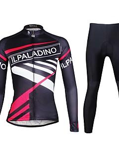 ILPALADINO Pyöräily jersey ja trikoot Naisten koot Pitkä hiha Pyörä VaatesetitNopea kuivuminen Ultraviolettisäteilyn kestävä Hengittävä