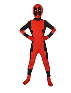 baratos Fantasias de Crianças-Super-Heróis Fantasias de Cosplay Cosplay de Filmes Vermelho Mais Acessórios Natal Dia Das Bruxas Ano Novo Poliéster