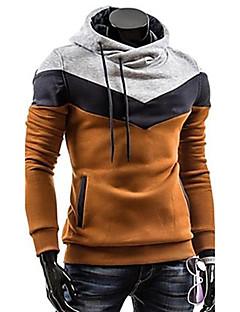 Herren Hoodie-Jacke Übergröße Lässig/Alltäglich Sport Einfach Einfarbig Rollkragen Mikro-elastisch Baumwolle Langarm Winter