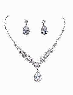baratos Vestidos de Festa & Acessórios-Mulheres Gema Conjunto de jóias - Incluir Prata Para Casamento / Festa