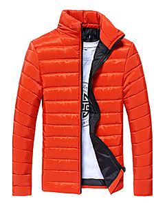 コート レギュラー ダウン メンズ,スポーツ カジュアル/普段着 ソリッド レーヨン ポリプロピレン-活発的 長袖 スタンド