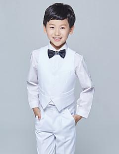 abordables Trajes de Pajecito-Burdeos Blanco Gris Algodón Vestido de Padrino - 4 Incluye Chalecos Camisas Pantalones Pajarita