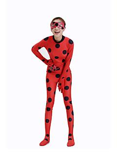 חליפות בדוגמת זנטאי תחפושת למסיבה נשף מסכות חיה Zentai תחפושות קוספליי אדום מנוקד דפוס /סרבל תינוקותבגד גוף תיקים וארנקים מסכה Zentai