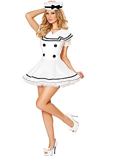 billige Voksenkostymer-karriere Kostymer Matros Cosplay Kostumer Party-kostyme Film-Cosplay Kjole Hatt Halloween Karneval polyester