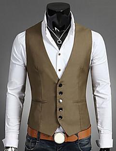 お買い得  メンズファッション&ウェア-男性用 プラスサイズ ベスト - ビジネス スリム ソリッド