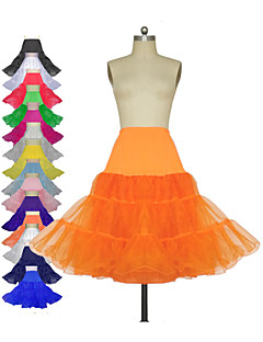 Wedding Special Occasion Daily Slips Polyester Tulle Netting Lycra Knee-Length With