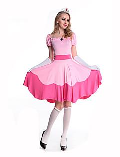 billige Halloweenkostymer-Prinsesse Eventyr Aurora Snø Dame Jul Halloween Karneval Oktoberfest Nytt År Barnas Dag Festival / høytid Halloween-kostymer Rosa Trykt